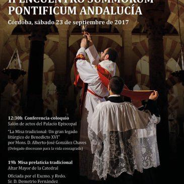 CARTEL JÓVENES MISA TRADICIONAL ANDALUCÍA II ENCUENTRO SUMMORUM PONTIFICUM (CÓRDOBA)