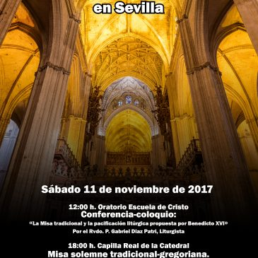 CARTEL ACTOS X ANIVERSARIO SUMMORUM PONTIFICUM EN SEVILLA